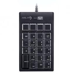 ELSRA USB Wired Programming Numeric Keypad ControlPad Black