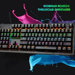 Water-Resistant Mechanical Feeling RGB Gaming Keyboard with