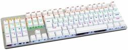 White Mechenical Gaming Keyboard 87-Key Mechanical Blue Swit