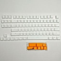 Ducky white PBT keycaps, for TKL mechanical keyboard, Cherry