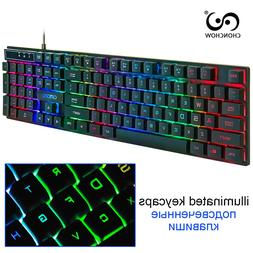 Wired Illuminated Gaming <font><b>Keyboard</b></font> Free R