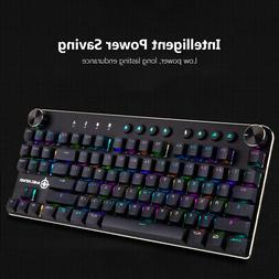 Wired/Wireless BT PC Ergonomic Gaming Mechanical Keyboard Bl