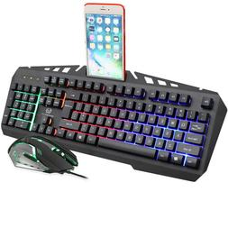 X310 Mechanical Gaming Keyboard Mouse Combo 7-color RGB Brea