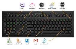 Das Keyboard X50Q Soft Tactile RGB Smart Mechanical Gaming K